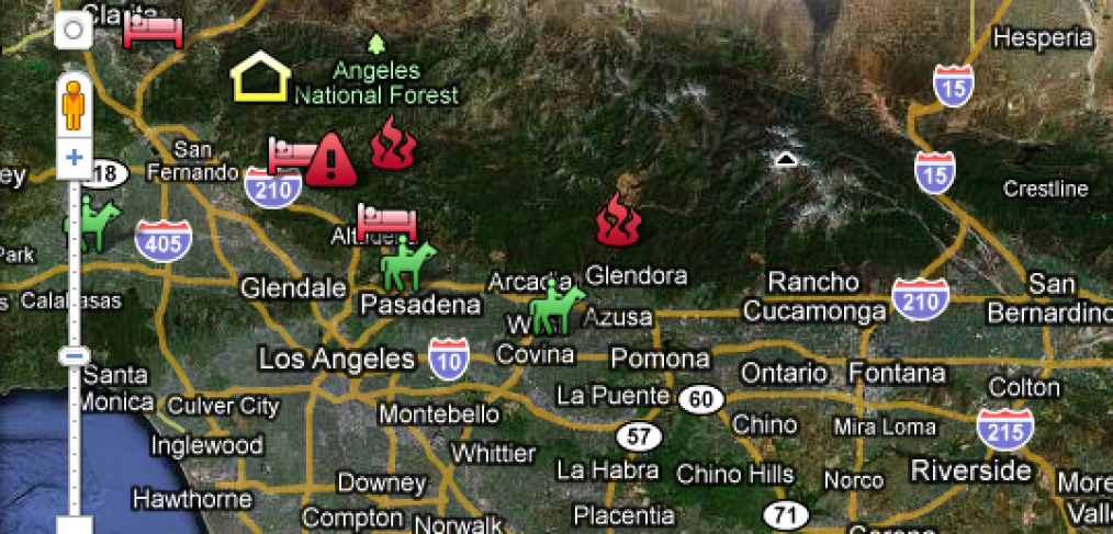 Interactive Wildfire Maps Southern California Fires Progress