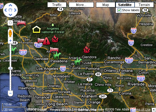 Interactive Wildfire Maps: Southern California Fires Progress