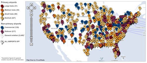 Interactive Airport Map Displays Us Airports Getting Big Grant Money - Map-us-airports