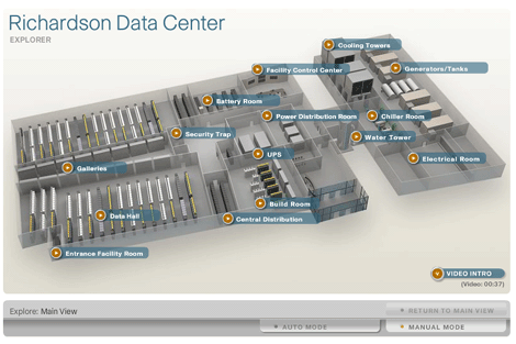 Cisco's Richardson Data Center Interactive Map Tour – nuCloud on