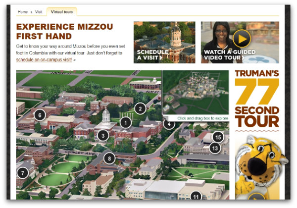 University Of Missouri Launches New Interactive Campus Map Nucloud