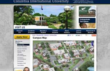 Columbia International University's Map Page