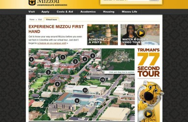 University of Missouri's Map Page