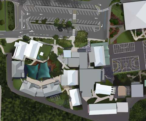 Linn Benton Community College Campus Map.Custom Map Illustrations Nucloud